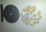 30x LED 54mm Round Panel. Warm White