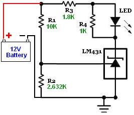 TL431A-LED-Battery-OK-status-indicator