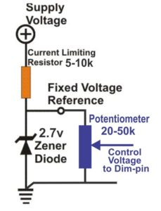 Fig1 Analog Voltage Control Dimming with a Potentiometer