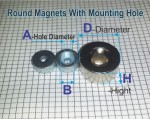 Round Magnets with Mounting Hole